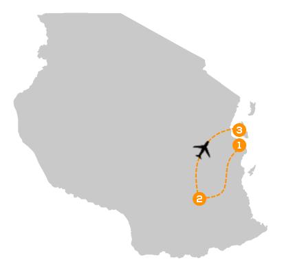 Reisroute aanbieding Zuid-Tanzania & Zanzibar