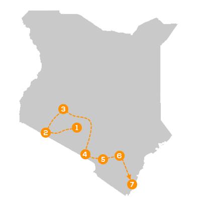 Reisroute het beste van Kenia