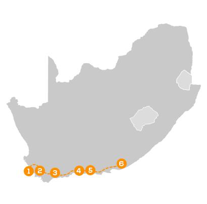 Reisroute Luxe Autorondreis West- & Oost-Kaap