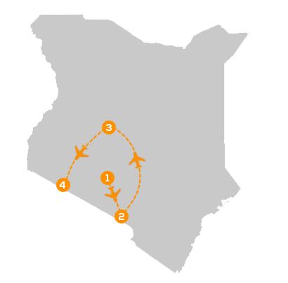 Reisroute de Parels van Kenia